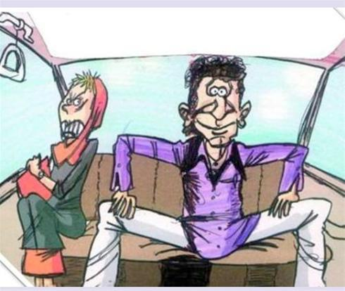 نحوه نشستن آقایون کنار خانم ها در تاکسی - طنز