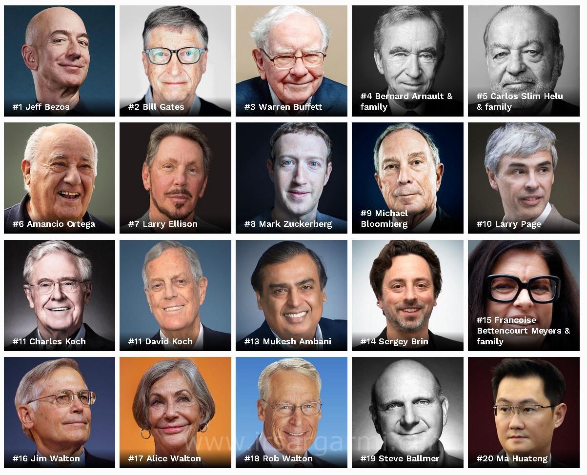 ثروتمند ترین افراد دنیا