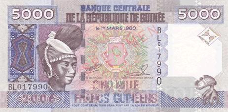 اسکناس فرانک گینه (علامت اختصاری: GNF)